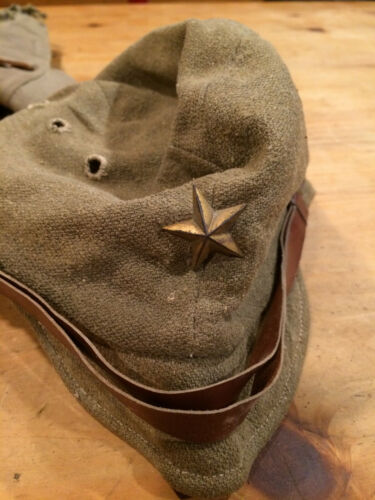 ww2 japanese army field hat with metal star