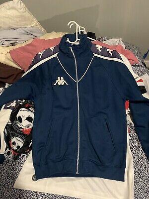 vintage Kappa track jacket Navy Blue And White Mens Medium