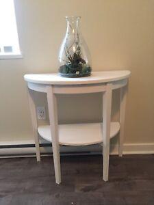 IKEA white round half-table