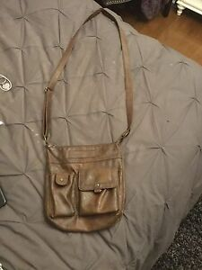 Leather American Eagle Crossover Bag