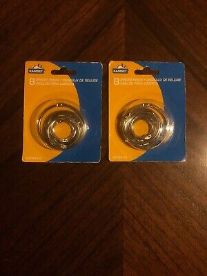 Kamset 8-pc Binder Rings Assorted Sizes - 2 Packs 16 Binder Rings Total Nip