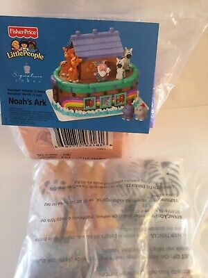 Noah's Ark Deco-set Cake Topper Decorations Fisher Price Little People new