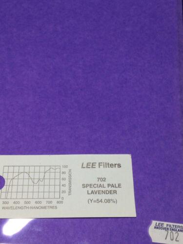 "Lee Filters L702 Special Pale Lavender Lighting Gel Sheet  21"" x 24"""