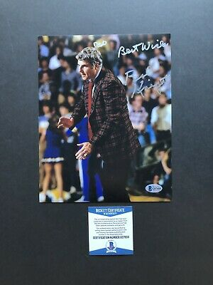 9a4eb8d7dc6 Bob Knight autographed signed 8x10 photo Beckett BAS COA NCAA Indiana  Hoosiers