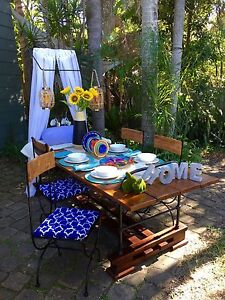 DINING TABLE - An ECLECTIC BLEND of IRON and RECYCLED TIMBER Bundall Gold Coast City Preview