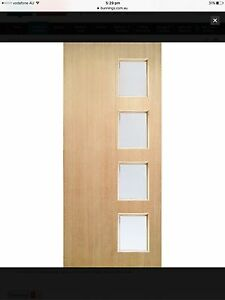 Woodcraft Entrance Door With Frosted Safety Glass RRP: $397 St Kilda East Glen Eira Area Preview