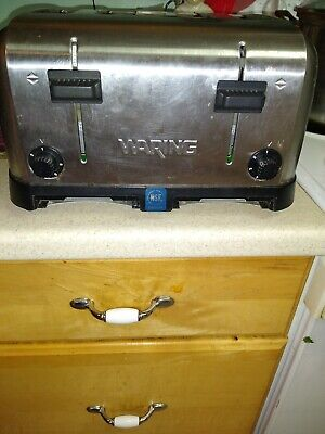 Commercial 4-slice Toaster 1.5 Inch Slots Toasted Bread Bagels Waffles Machine