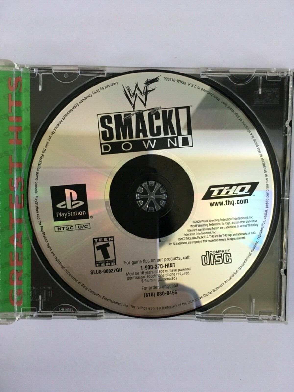 WWF SmackDown Sony PlayStation 1 2000 Greatest Hits Tested Working - $14.95