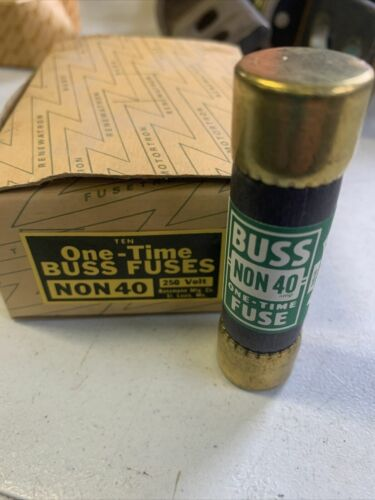7-PK NEW EAGLE Buss 40 Amp Fuses 250 Volt One-Time NON-40 NEW