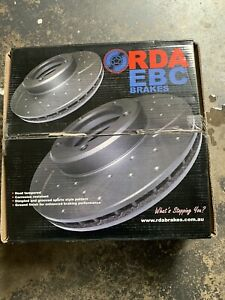 NEW RDASlotted And Dimpled Brake RotorPair Front Honda CRV (*****2004