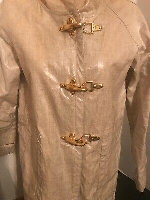 J. Crew Collection linen slicker coat $398 - -
