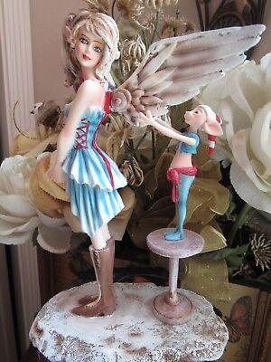 AMY BROWN Fairy & Elf Figurine ANGEL GETS HER WINGS Pacific Giftware! BNIB
