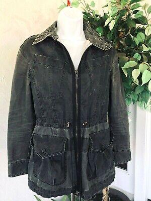 Sz 38 8 Alexander McQueen Military Streetwear Jacket Vintage Washed Black