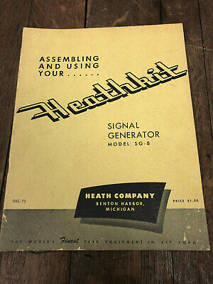 Heathkit Sg-8 Ham Radio Am Signal Generator Assembly Operation Manual