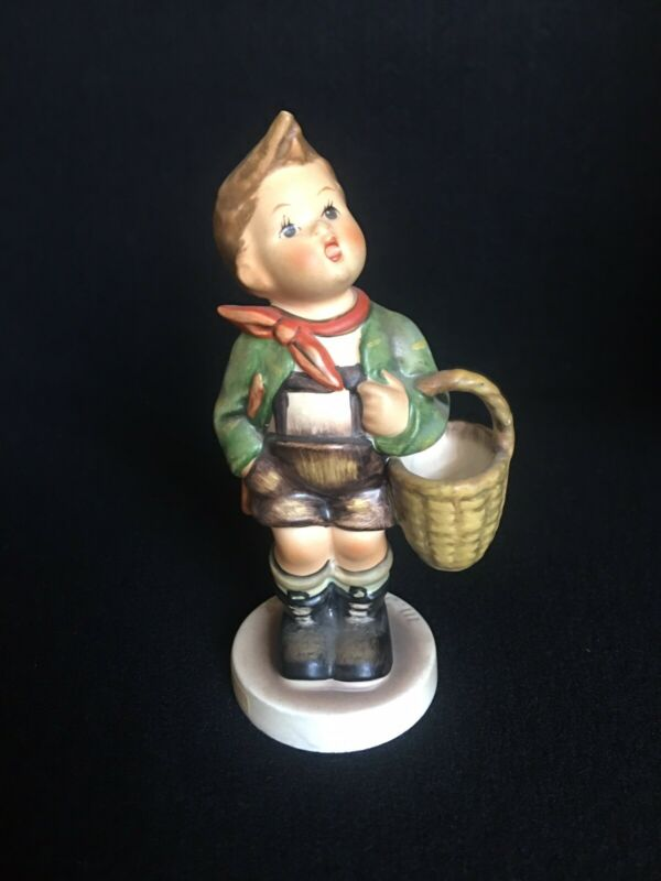 "M I Hummel Goebel Porcelain Figurine Village Boy 5""Germany TMK6 NM Free Shipping"