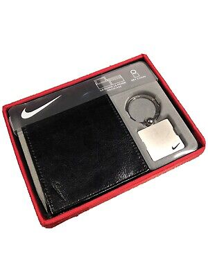 Nike Leather Wallet RRP £55 + Key Chain Designer