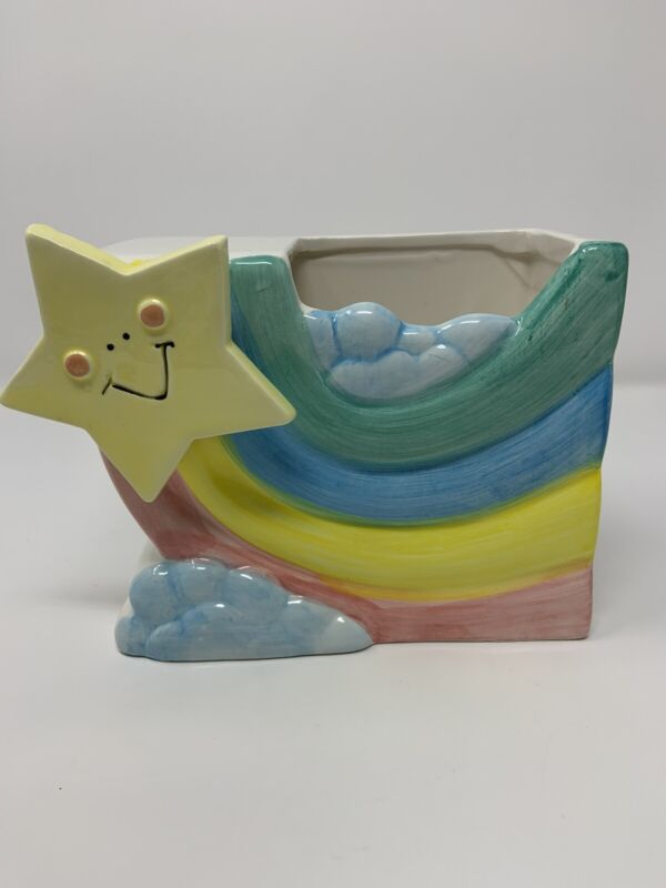 Vintage Musical Shooting Star Planter Plays Over The Rainbow