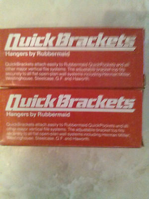 2 Rubbermaid Boxes of Quick Brakets Hanger for File System