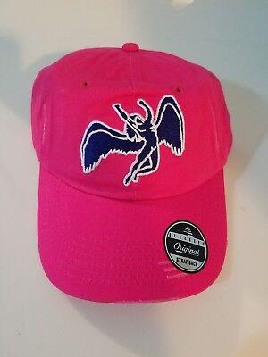 Black Keys Zeppelin Angel Dad Hat Strap Back Cap Hot Pink Pink Angel Hat