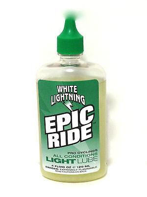 WHITE LIGHTNING BIKE BICYCLE EPIC RIDE CHAIN LUBE 4oz.