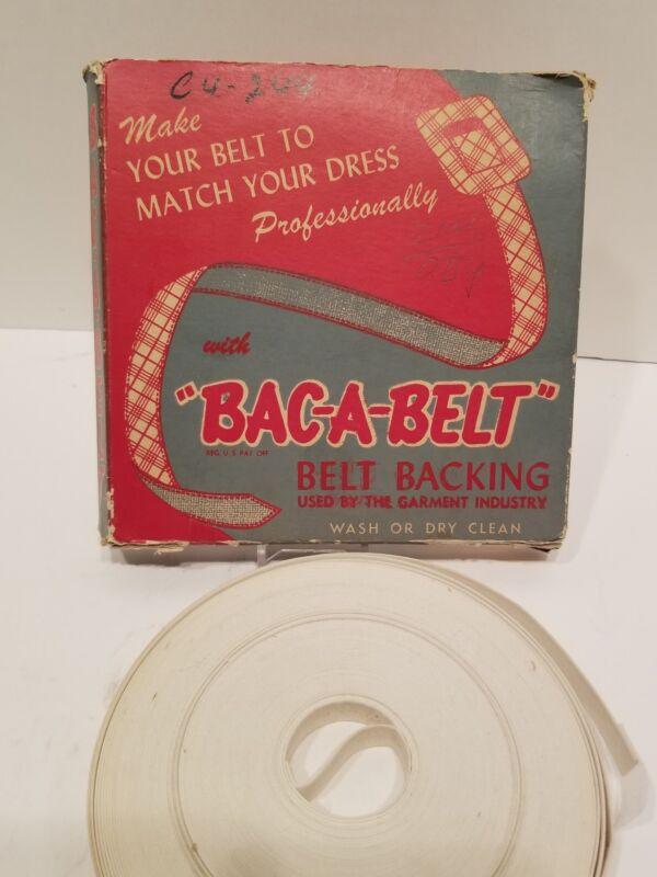 Vintage Bac-A-Brand Belt and Buckle original