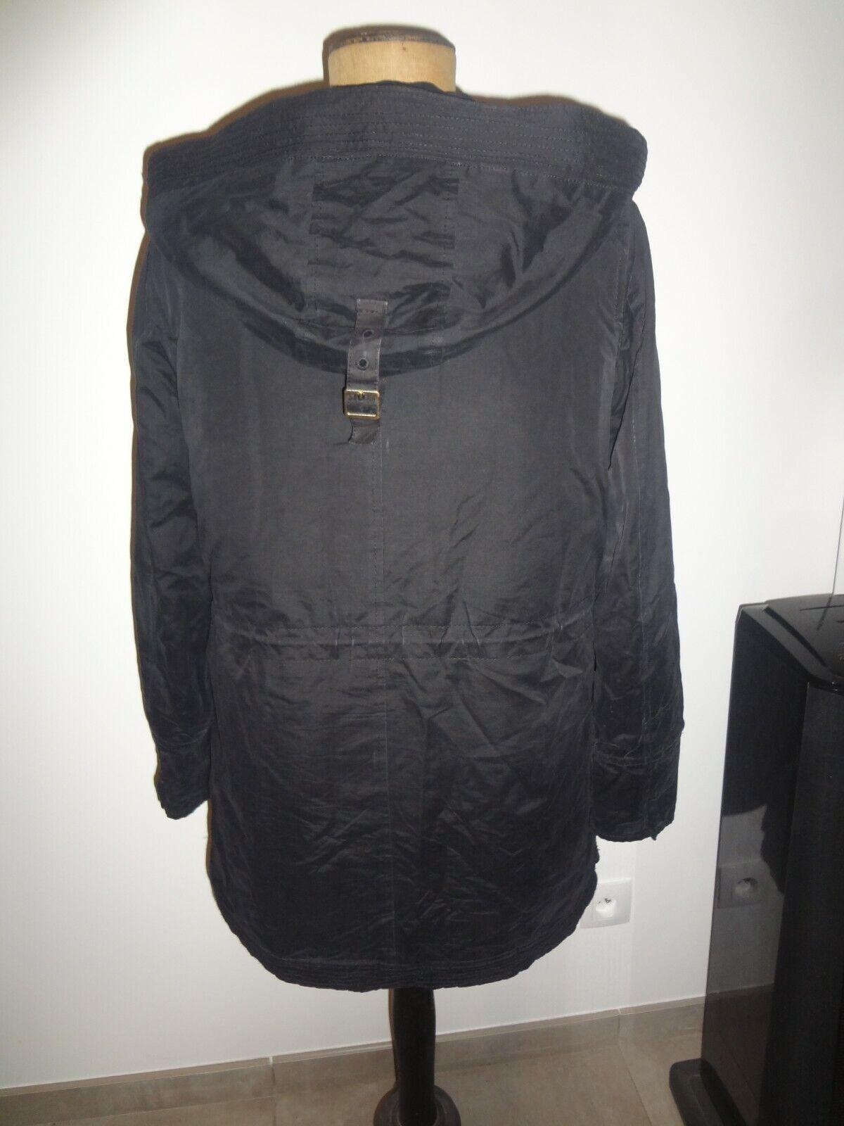 Zara trafaluc 50 52 parka manteau doudoune capuche amovible veste blouson trench