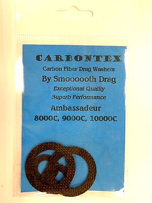 NEWELL REEL PART P 220-F 4 Smooth Drag Carbontex Drag Washers #SDP1