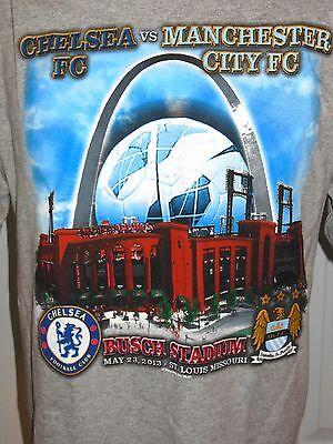 (CHELSEA VS MANCHESTER CITY 2013 FOOTBALL SOCCER Short Sleeve T-shirt Size L HTF)