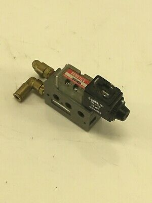 Numatics 031SA4254  Solenoid Air Valve, 24VDC 6W, 236-127B, Used