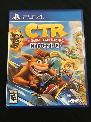 Crash Team Racing Nitro Fueled Bandicoot Playstation 4 PS4 CTR