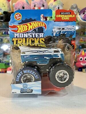 Hot Wheels Monster Trucks VW Drag Bus 68/75 Flames New Mint MIB NIP Volkswagen