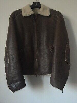Shearling Men Real Leather Jacket Size 50 Italian  segunda mano  Carvajal