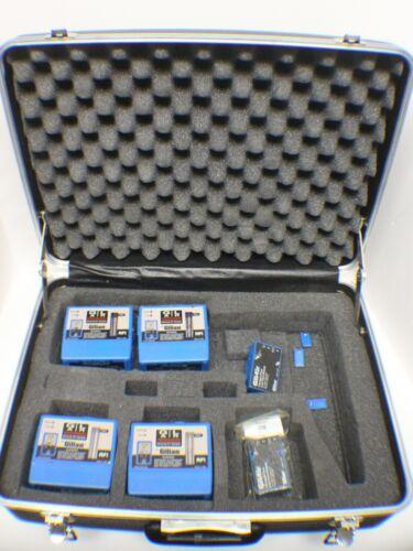 Set of 4 Gilian GilAir-3 Air Sampler Sampling Pump w/2 800518 Modules in Case