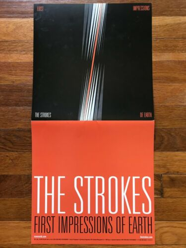 The Strokes First Impressions of Earth RARE original promo 12 x 24 flat
