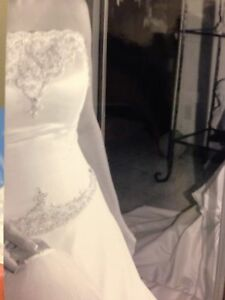 White Alfred Sung Wedding Dress- Can Deliver