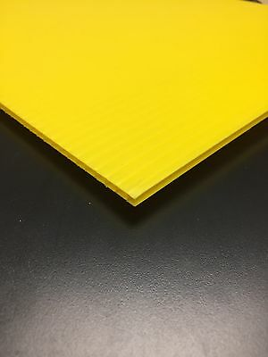 4mm Yellow 24 X 24 4 Pack Corrugated Plastic Coroplast Sheets Sign