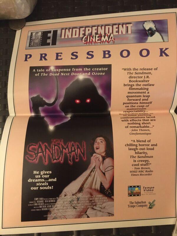 E.I. Independent Cinema 2pg Pressbook THE SANDMAN 1996 JR Bookwalter Tempe Video