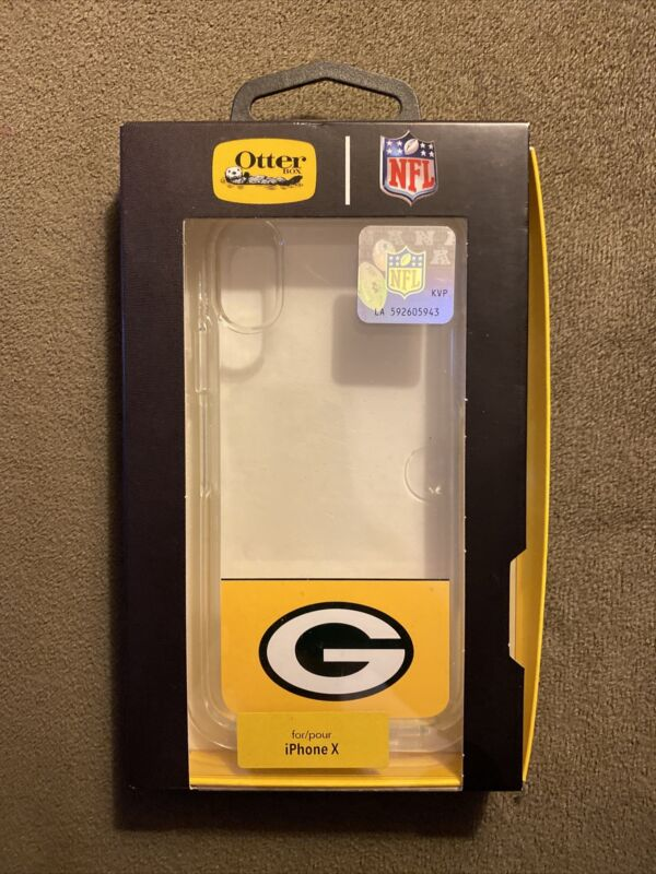 NEW Otterbox Symmetry NFL Case for iPhone X/XS Green Bay Packers Football Case