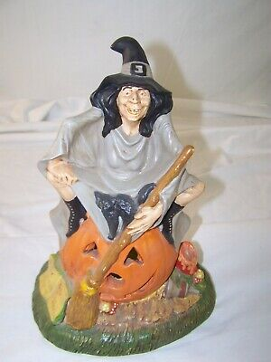 Ceramic Halloween Witch Holiday Garden Decor Hand Painted  ()