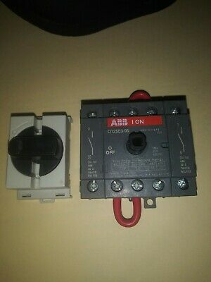 Abb Ot25e3-95 Disconnect Switch Acdc 25a 600vac 35 Pole 7.5 15 20 Hp Motor
