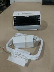 Sony AM/FM Clock Radio iPhone iPod Dock Alarm ICF-C11IP White Excellent