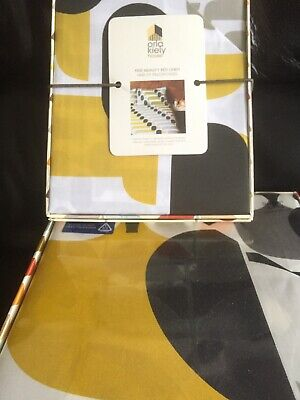 "Orla Kiely ""Big Owl"" - Pink/ Warm Grey Super King Duvet Cover & 2 Pillowcases"