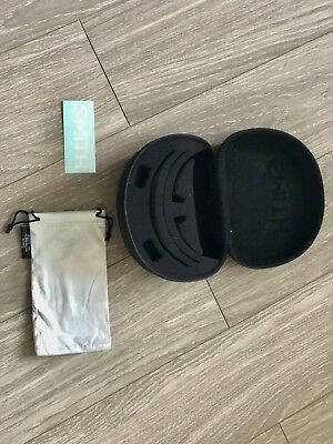 SMITH OPTICS Large Clamshell Sunglass Case with cleaning/carrying bag & sticker