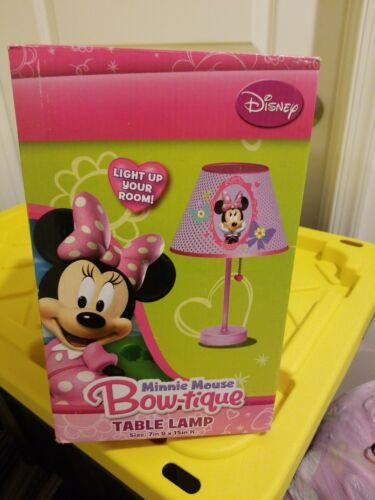Disney Minnie Mouse Bow-tique Table Lamp, New, Free Shipping