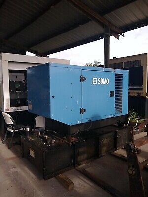 Sdmo 30 Kw Diesel Generator - 665 Hours - Single Phase - Mitsubishi Engine