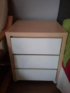 Set of 3 drawers / Bedside table Beaconsfield Fremantle Area Preview