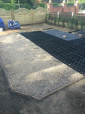 LOG CABIN BASE GRID FOUNDATION KIT & MEMBRANE 14X8 FEET OR 4.25X2.5M = 10.6 SQ/M
