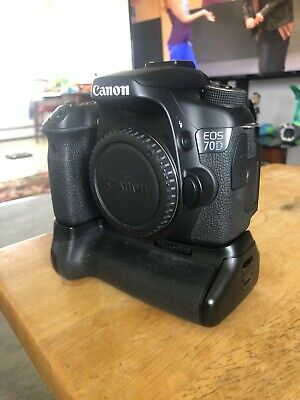 Canon EOS 70D pre owned BODY ONLY (with batter pack)