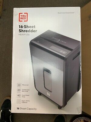Tru Red 16-sheet Micro-cut Commercial Shredder Tr-bmc163a