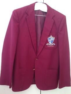 Radford College male blazer and other clothing